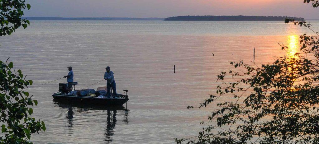Lake Livingston view of Pine Island